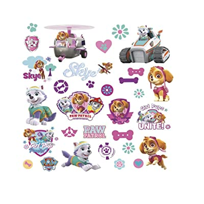 30 New PAW PATROL GIRL PUPS WALL DECALS Puppies Room Stickers Dogs Bedroom Decor: Kitchen & Dining