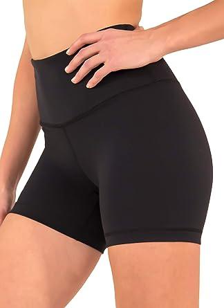 db3b19c05488c 90 Degree By Reflex - Power Flex Yoga Shorts (XS, Black High Waist)