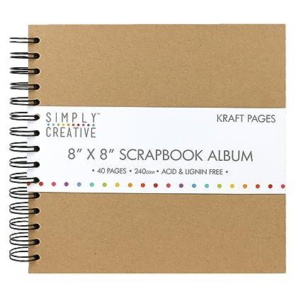 Amazon Simply Creative Scrapbook Memory Photo Kraft Brown Album