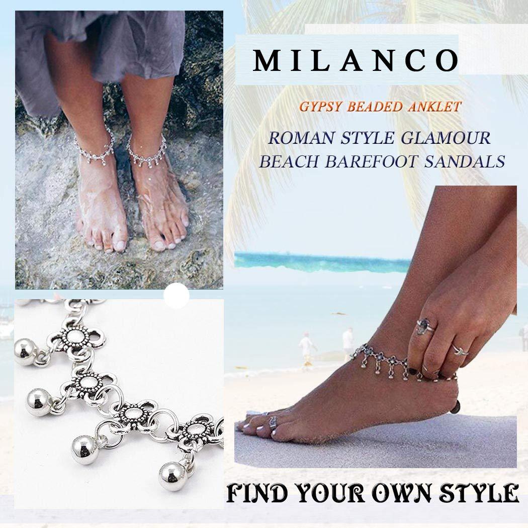 Heart .Attack Bracelet Multilayer Silver Color Tassel Chain Anklet Bohemian Summer Beach Foot,1,