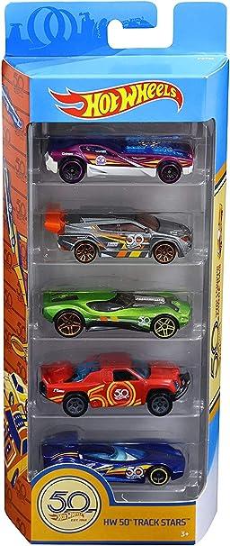 Hot Wheels Pack de 5 vehículos 50 Aniversario, Coches de Juguete (Mattel FWF98): Amazon.es: Juguetes y juegos