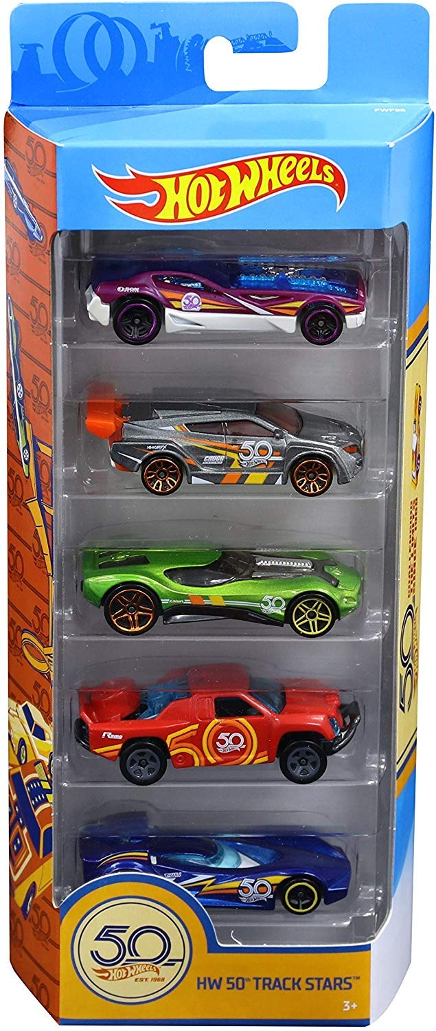 Hot Wheels FWF98 50th Anniversary 5 Diecast Pack and Mini Toy Cars