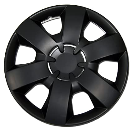 Amazon.com: TuningPros WSC-226B14 Hubcaps Wheel Skin Cover 14-Inches Matte Black Set of 4: Automotive