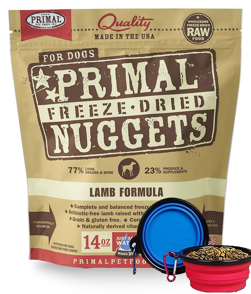 Primal Pet Food - Freeze Dried Dog Food 14-ounce Bag - Made in USA (Lamb) by Primal