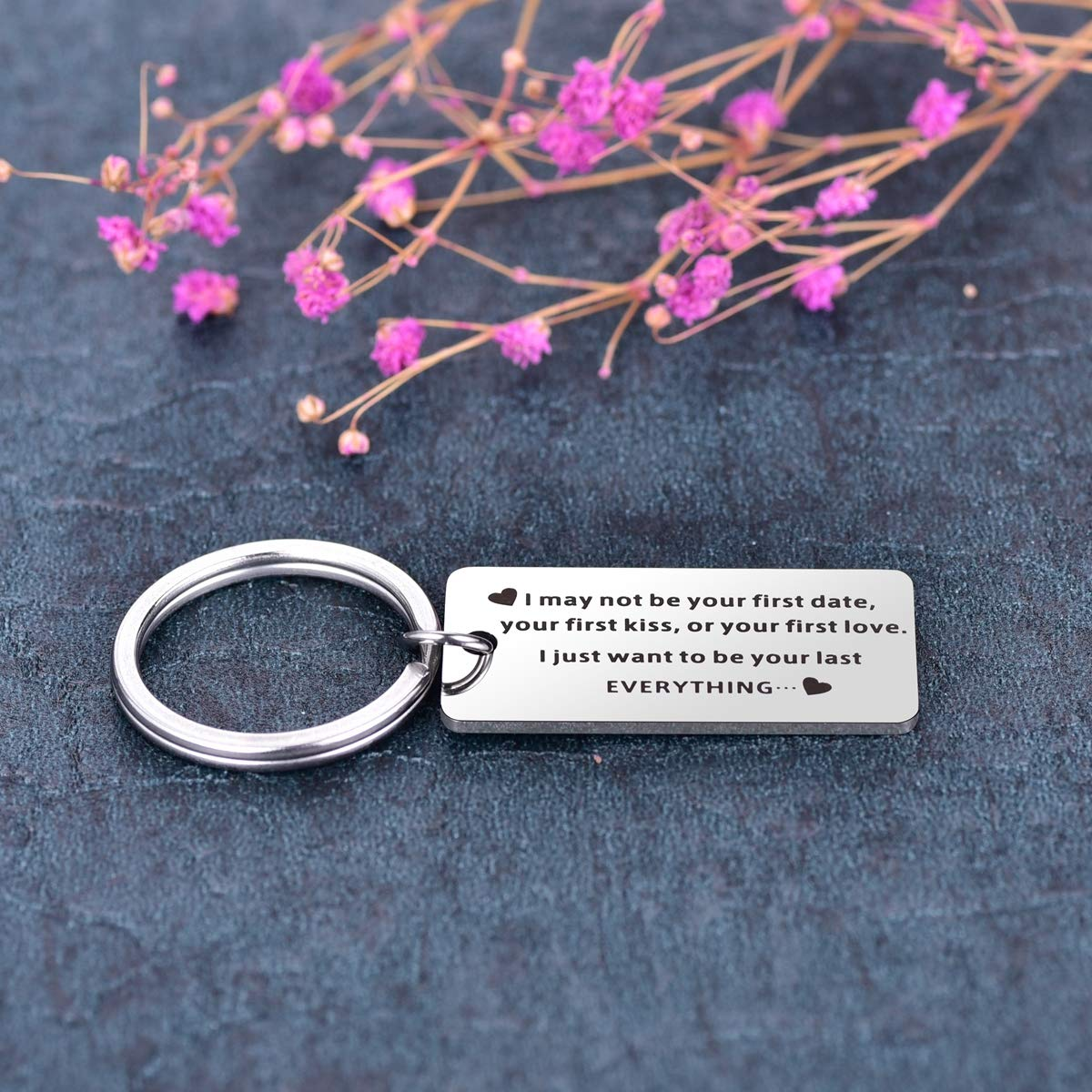 Boyfriend/Girlfriend Keychain I May Not Be Your First Date Want To Be Your  Last Everything Keychain Anniversary Valentine's Day Birthday Christmas