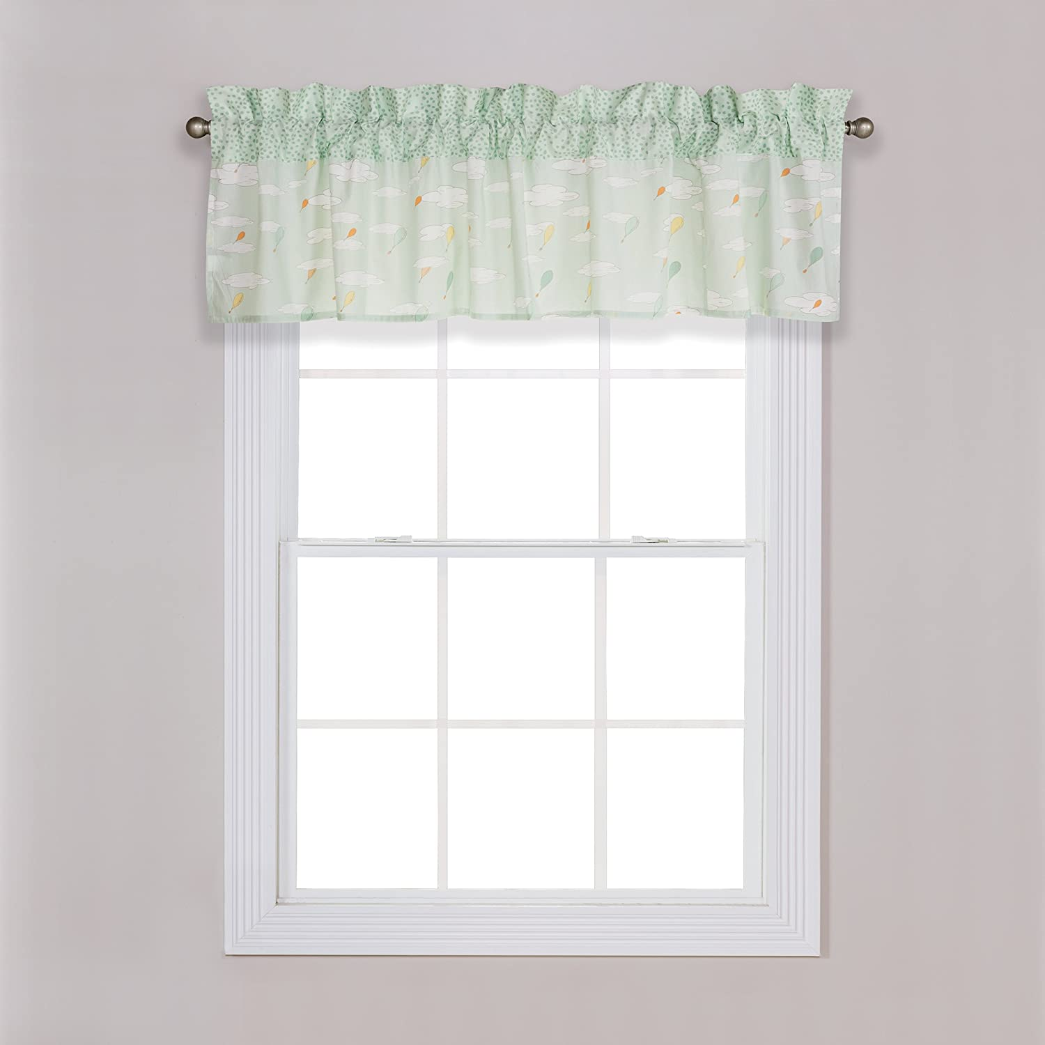 Unisex Window Valance Seuss Oh The Places Youll Go Trend Lab Dr Orange//Yellow//Green and White 30368