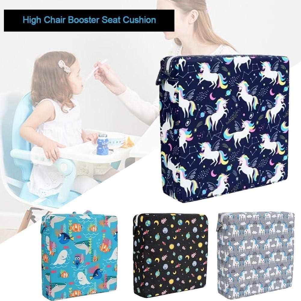 Kinder Sitzerh/öhung Stuhl,Sitzerh/öhung Baby Tragbar Sitzkissen Chair Booster Sitzkissen-Tragbares Stuhlkissen mit Karikaturdruck zum Speisen f/ür Kinder Stuhl Sitzerh/öhung f/ür Kleinkinder