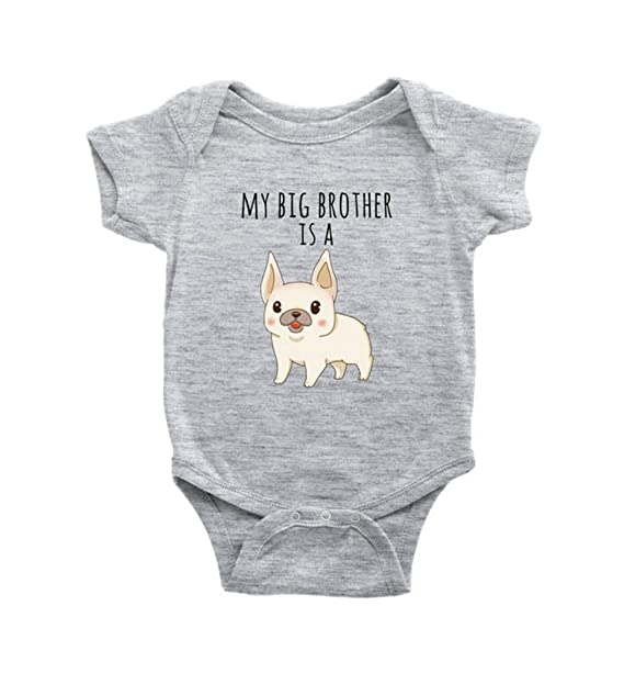 1de82ddcf My Big Brother is A Frenchie French Bulldog Baby Bodysuit Dog Lover Baby  Clothes, Baby