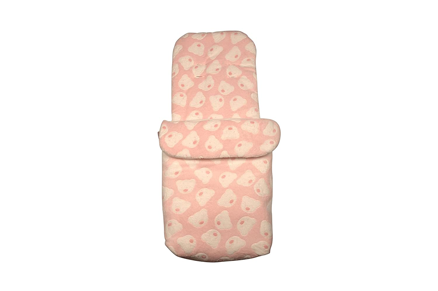 Clair de Lune Teddy Fleece Pushchair Footmuff (Pink) CL5589P