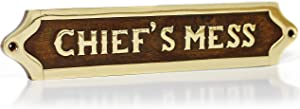 Chiefs Mess Brass Door Sign Maritime Ships Plaque | Decorative Plaque | Home Decor Accents Nagina International