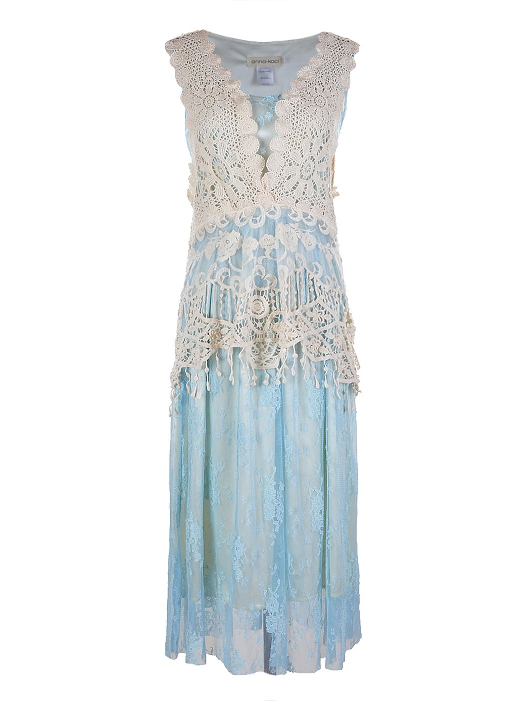 Anna-Kaci Womens Vintage Lace Gatsby 1920s Cocktail Dress with ...