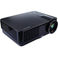 DBPOWER PJ0478 HD LED Projector Over 50000 Hours Lamp Life with 2HDMI 2USB Great for Meeting, Playing games, Watching Movies, 2000 Lumens