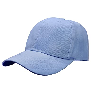 c6f16ce45d35ae Image Unavailable. Image not available for. Color: Plain Blank Solid Adjustable  Baseball Cap Hat - Sky Blue ...