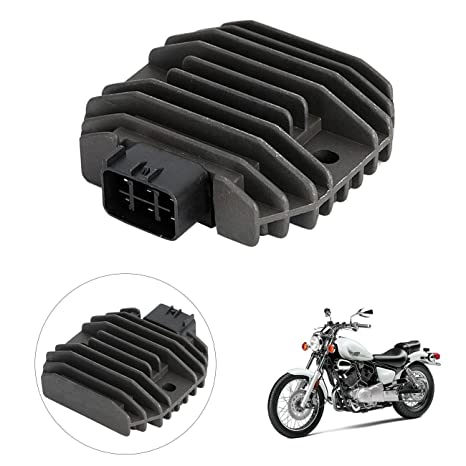 INNOGLOW Motorcycle Rectifier Voltage Regulator Aluminum Accessories  Replacement Assembly for Yamaha XVS1100 XVS650 YZF R6 Grizzly 600 Kodiak  450