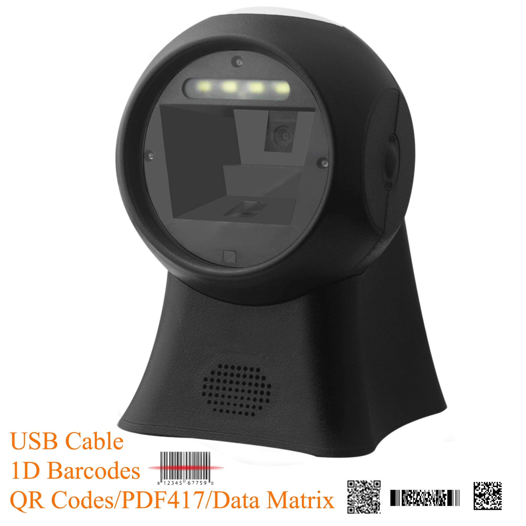 BQ-103P Omnidirectional Barcode Scanner,Automatic 1D Barcode,2D QR Code Capture,USB Cable Directly Used on Supermarket Retails Shop Android/Windows/Mac POS System. by BQ Scan Series