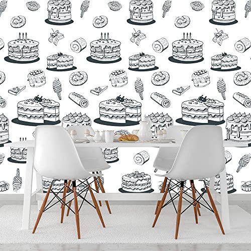 Amazoncom Cake Pattern Wallpaper For Kitchen And Cafeteria