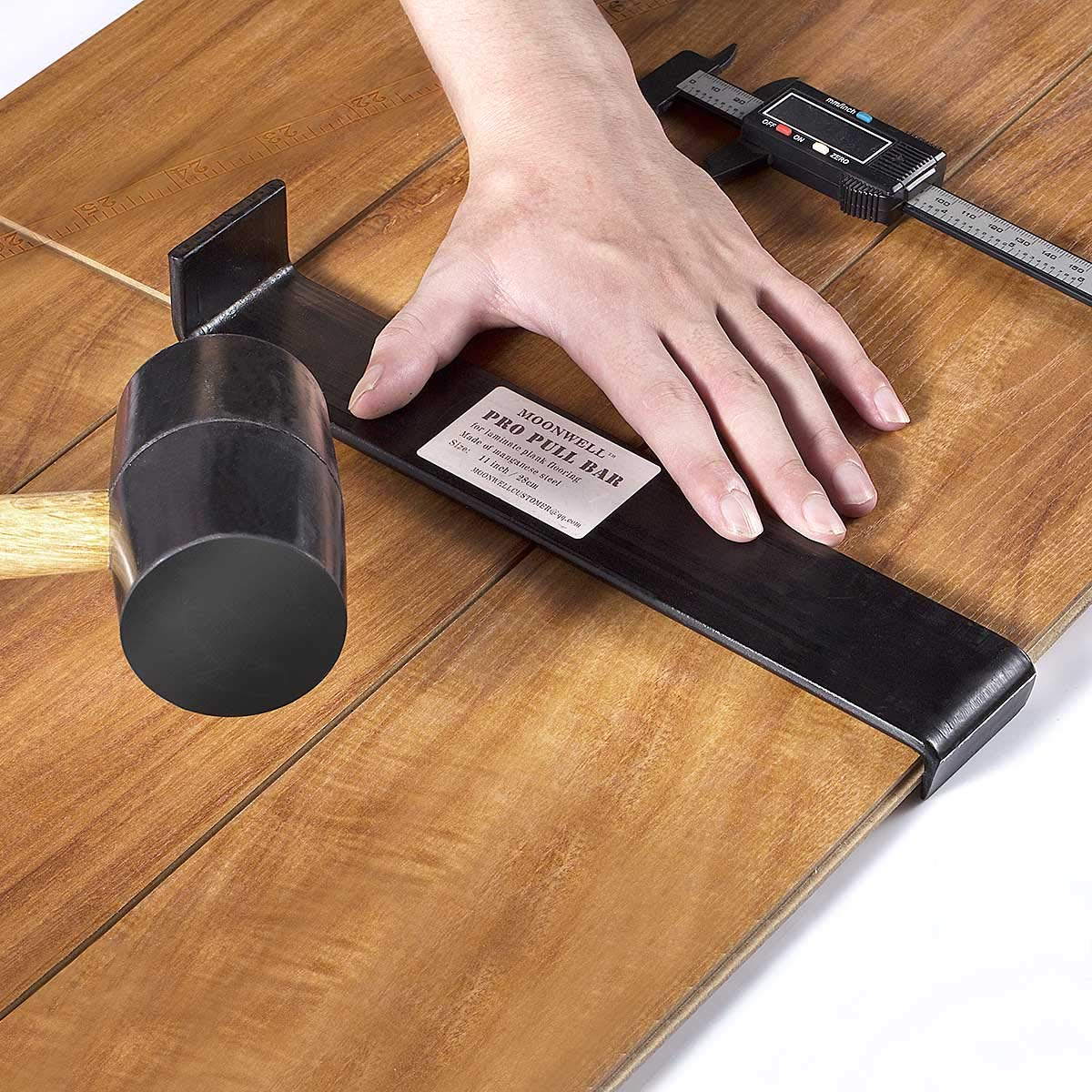 13 inch MOONWELL Pull Bar for Vinyl Plank Laminate Wood Flooring Installation