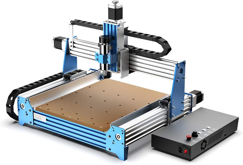 Genmitsu máquina fresadora CNC PROVerXL 4030, bastidor de viga C, controlada por GRBL, fresadora, cortadora y grabadora CNC de 3 ejes, área de trabajo XYZ 400 x 300 x 110mm