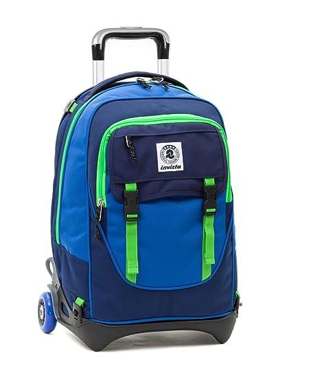 d156f66df1 TROLLEY INVICTA - PLUG - Verde Blue - Zaino SGANCIABILE e LAVABILE - Scuola  e viaggio