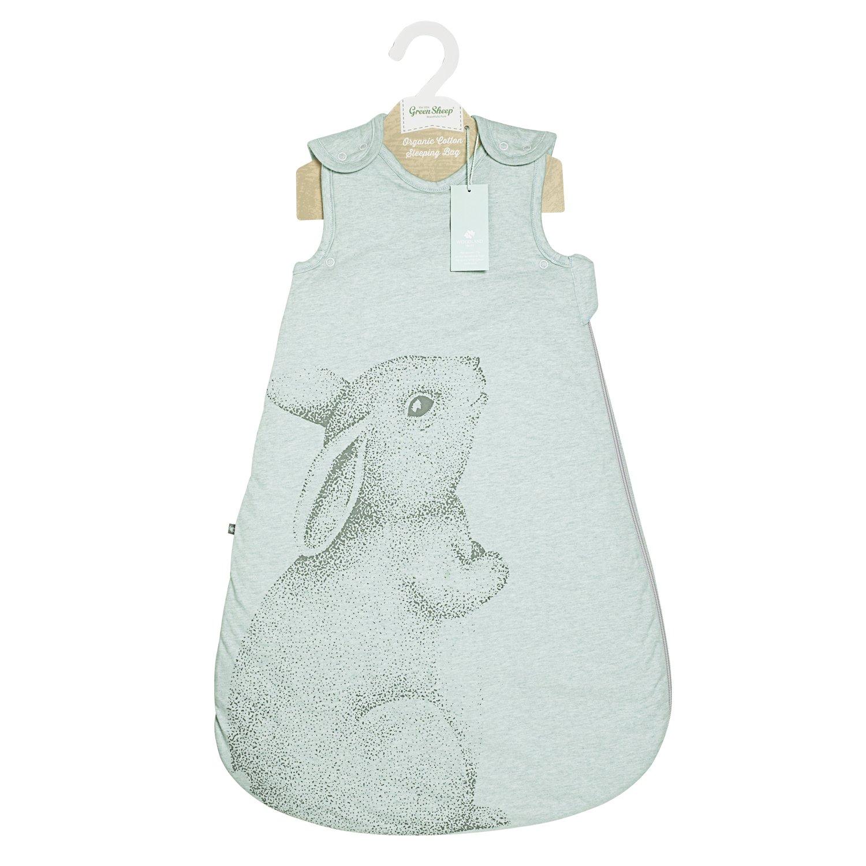 The Little Green Sheep Wild Cotton 6-18m Organic Sleeping Bag 2.5 tog (Rabbit) Green Sheep Group LTD SW001BH