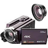 Videokamera Camcorder, Ablue 4K Ultra-HD 30FPS Kamera, 16X Digitale Zoom Full HD Wifi Cmacorder, 3.0 Zoll Display [Berührungsempfindlicher], IR Nachtsicht Videokamera mit Weitwinkel-Objektiv und Makro-Objektiv Schwarz