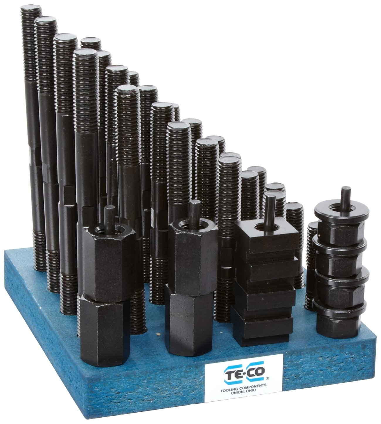 Te-Co 20608 38 Piece T-Nut and Stud Kit, 5/8''-11 Stud x 11/16'' Table T-Slot