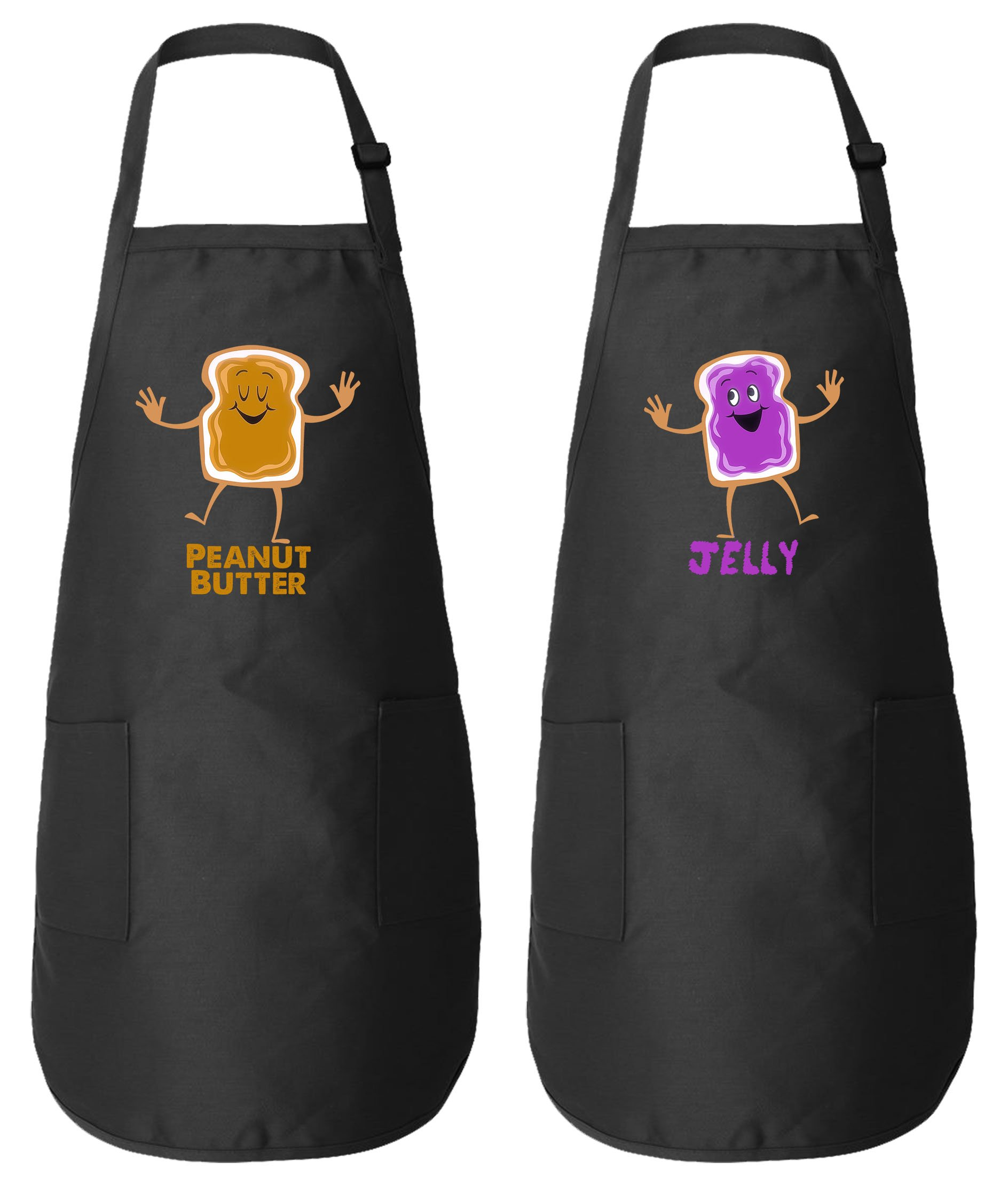 Peanut Butter & Jelly Matching Couple Aprons - His and Her Wedding Anniversary Gifts