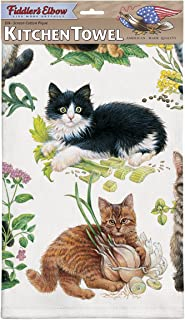 product image for Fiddler's Elbow Mixed Kittens Dish Towel
