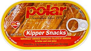 MW Polar Herring, Kipper Snacks, 3.53-Ounce (Pack of 18)