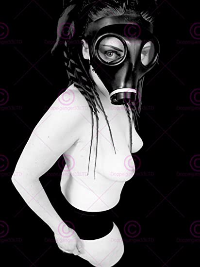 Sexy girl in gas mask