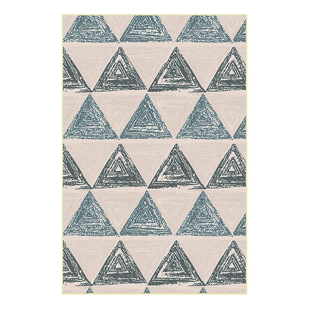 Amazon.com: HongYu Carpet rugSimple country style Geometric triangle pattern Environmental protection Art living room bedroom mats (Size : 120160CM): ...