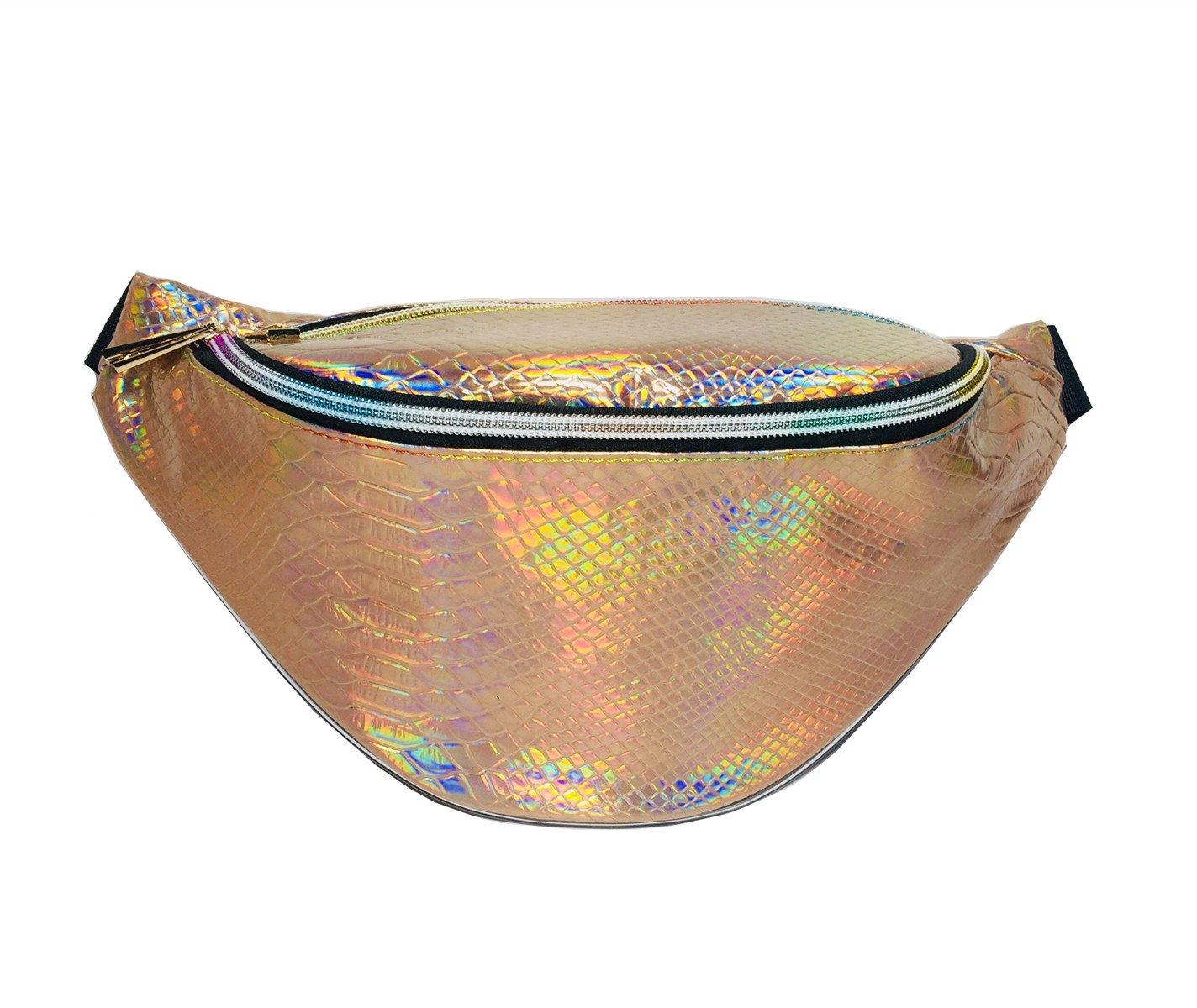 3daa520e7241 Amazon.com: Andear Bumbag Shiny Holographic Waterproof Fanny Pack ...