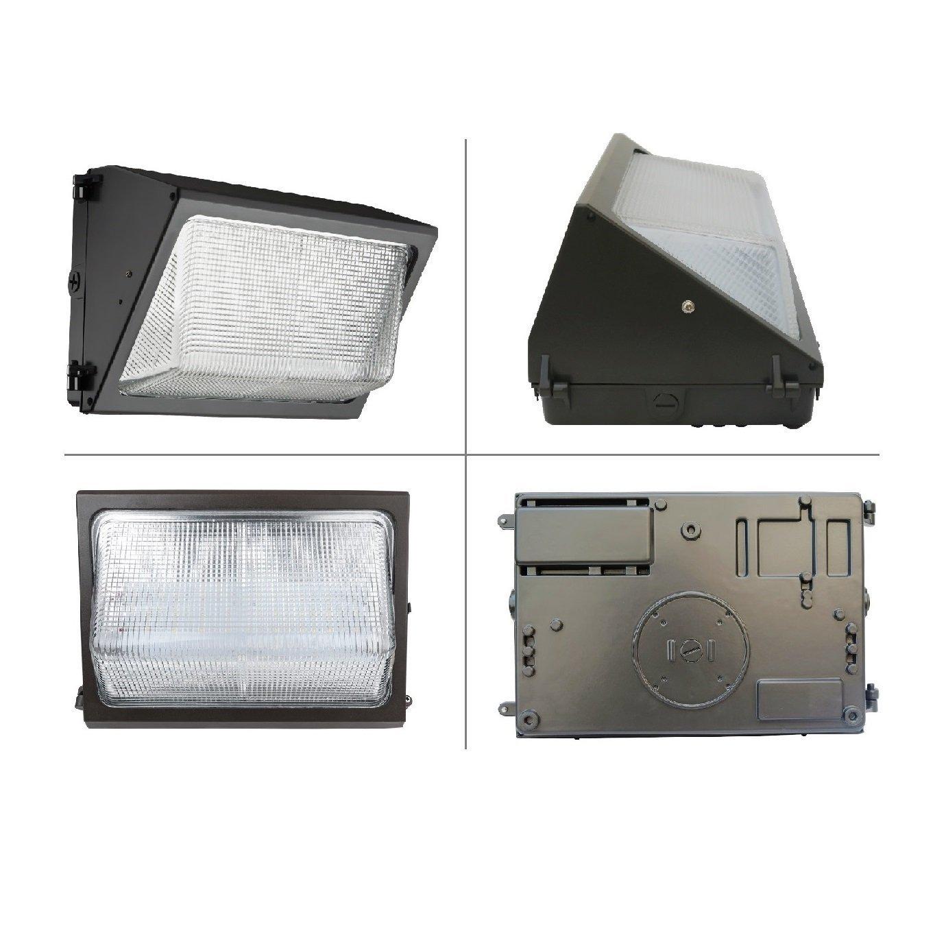 Daylight White 5000K 600W HPS//HID Replacement UL Approved 100 Lumen per Watt HERO-LED  WAL-100W-DW LED 100W Wall Pack Light