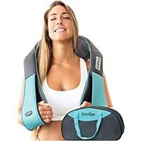 Shiatsu Back shoulder & Neck Massager With Heat - Deep Tissue 3D Kneading Pillow Massager for Neck, Back, Shoulders…