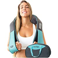 Shiatsu Back shoulder & Neck Massager With Heat - Deep Tissue 3D Kneading Pillow...