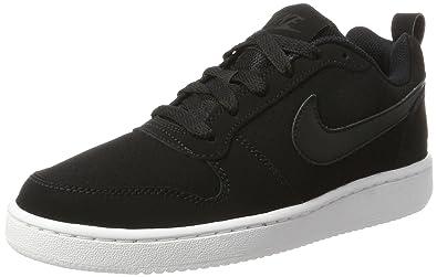 timeless design 50732 533dd Nike WMNS Court Borough Low, Baskets Femme, Blanc Noir, 36 EU