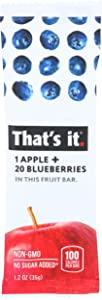 That's It, Apple & Blueberry Fruit Bar, 1.2 oz