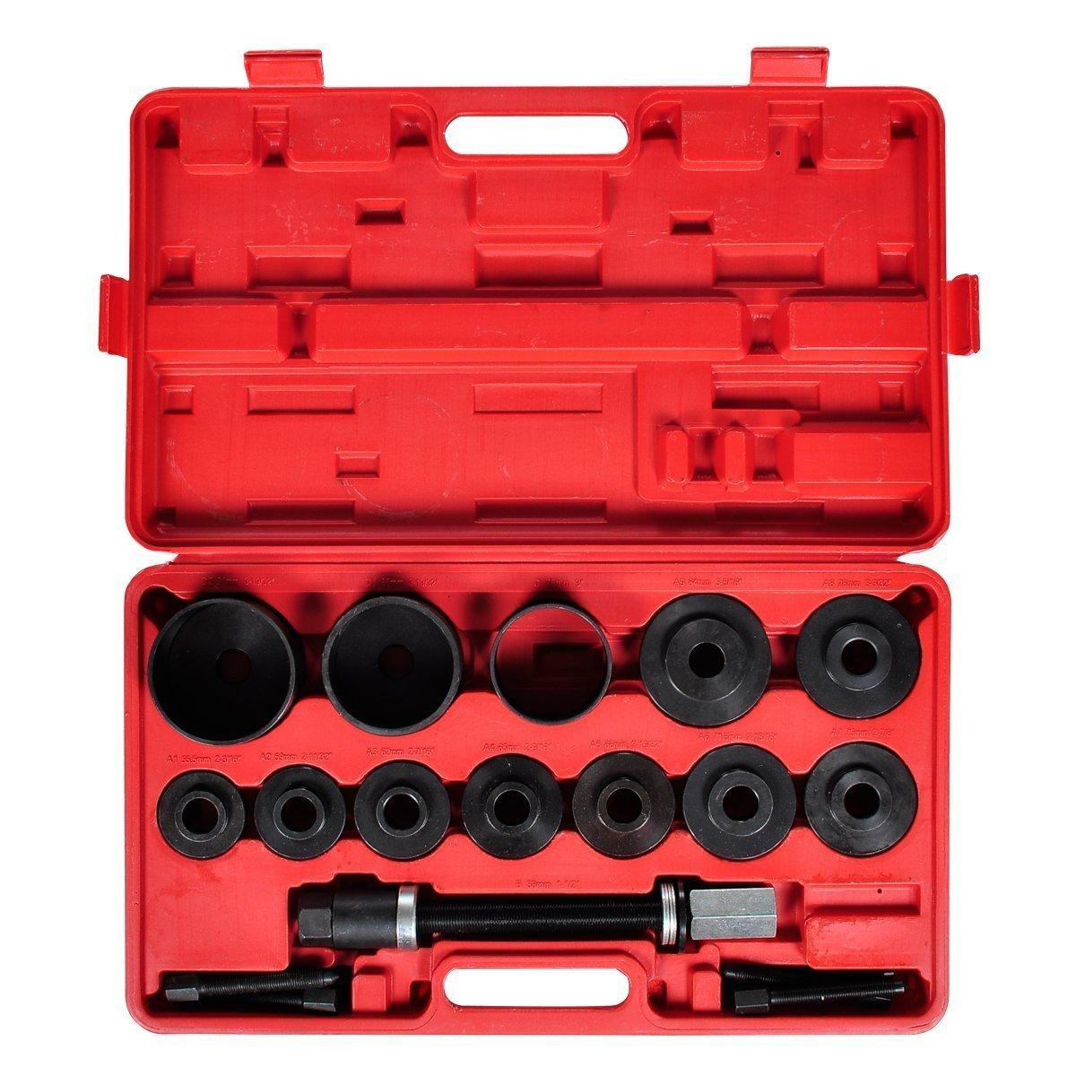 LARS360 Kit de 20 outils de roulement de roues Arrache-moyeu Extracteur de moyeu Montage D/émontage