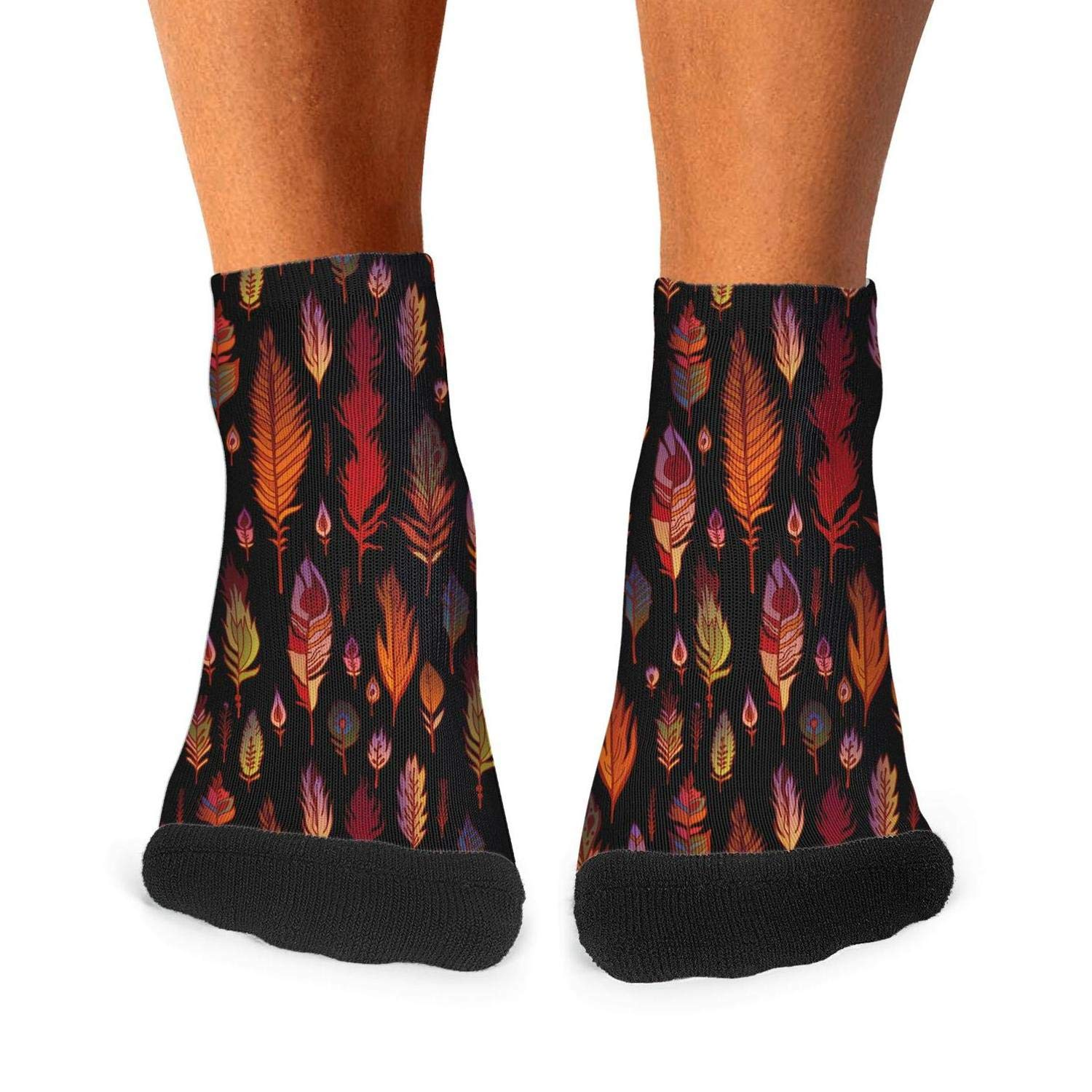 Low Cut Mens Socks The texture of pink feathers Warm Socks Slouch Boot Socks