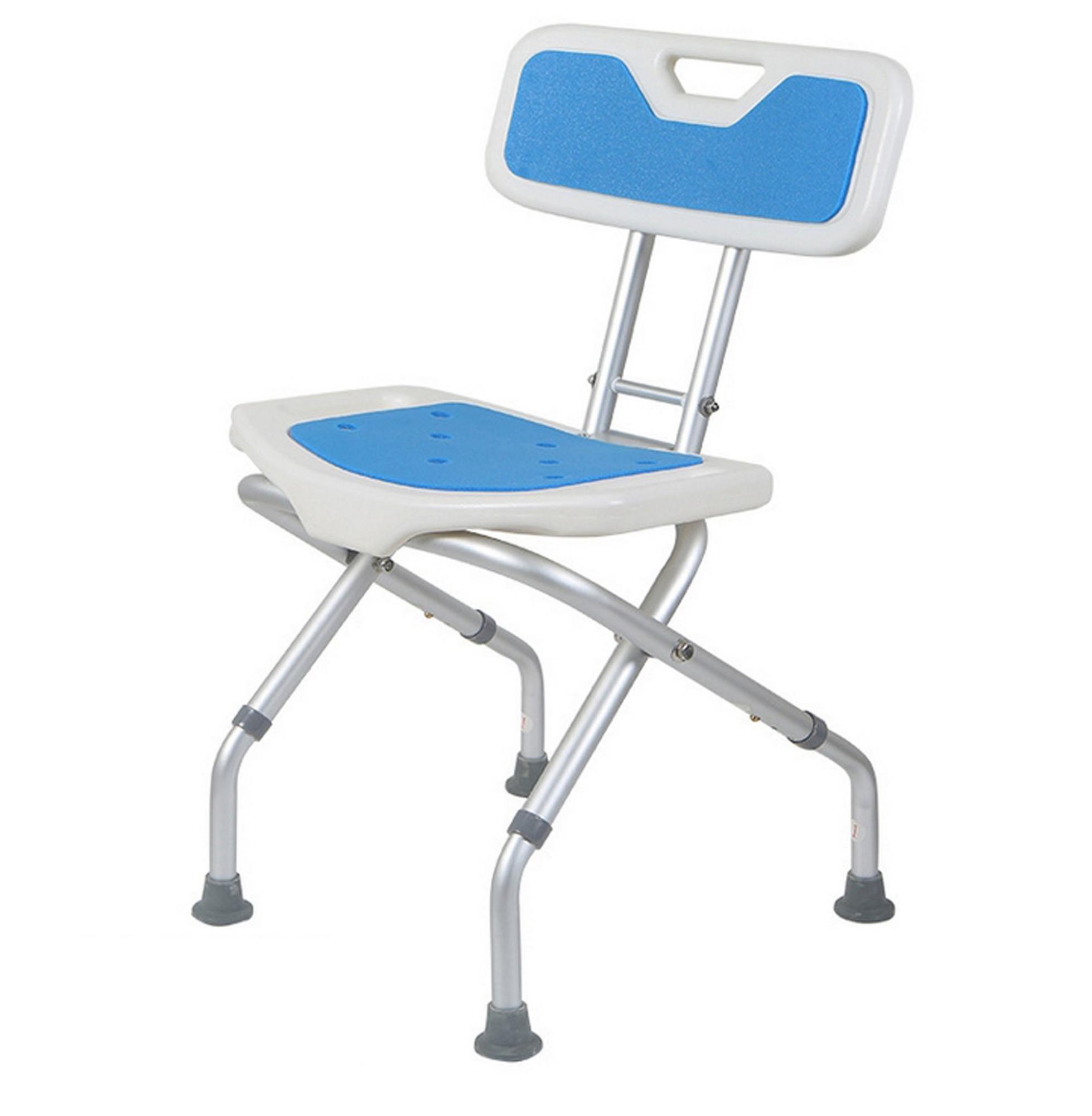 GAOJIAN Elderly collapsible Bathing chair home anti-slipping elderly disabled pregnant women folding stool adjustable height maximum bearing capacity 136kg