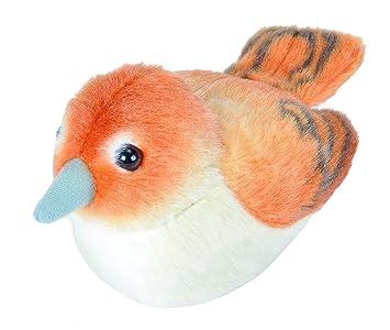 Wild Republic - Aves, Ruiseñor con Sonidos Reales Peluche, 13 - 16 cm (