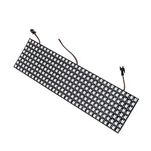 BTF-LIGHTING 8x32 Pixel 256 Pixels WS2812B Digital Flexible LED Panel Individually addressable Full Dream color lighting DC5V