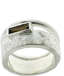 Traumhafter Silberring, Rauchquarz Farbe rauchig braun, Peter Erker, Serie Charisma