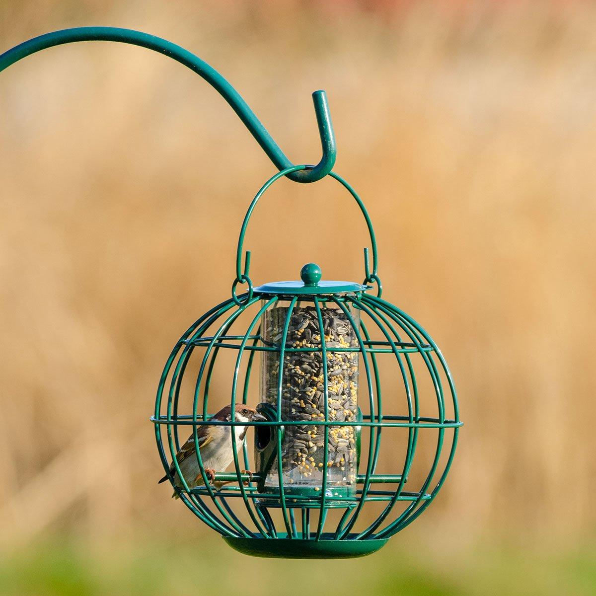 Gärtner Pötschke Vogelfutter-Säule mit Schutzkorb