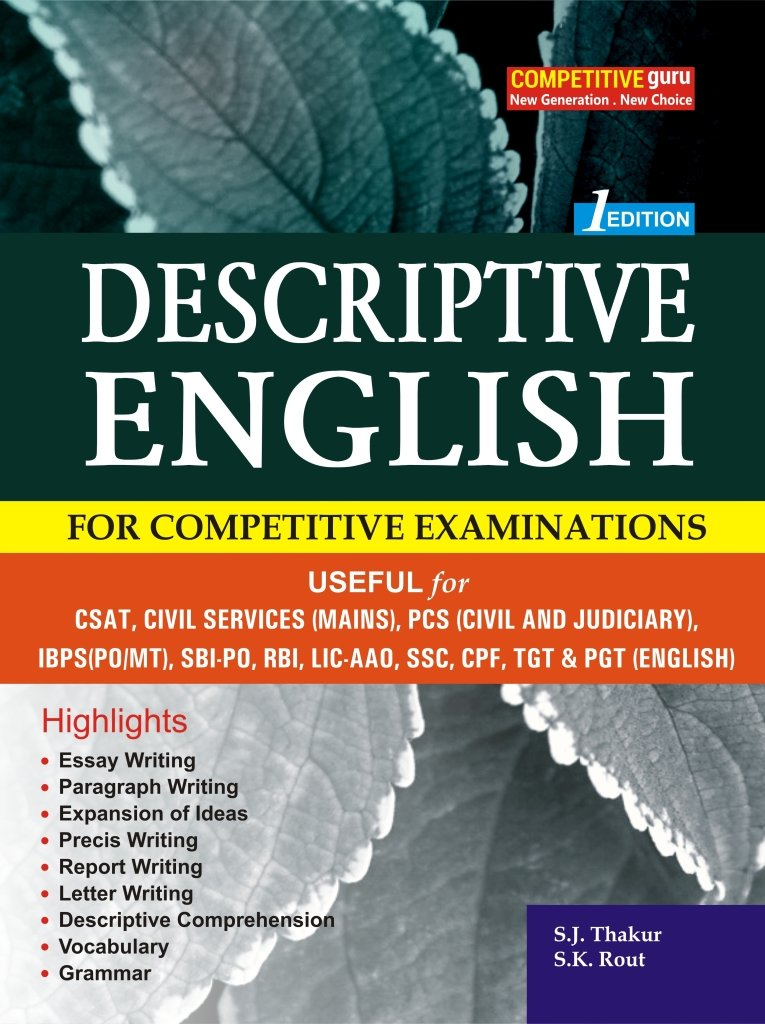 Buy Descriptive English For All Competitive Examinations Book  Descriptive English For All Competitive Examinations Paperback