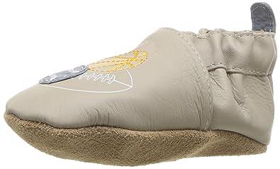 c55745750 Robeez Boys' Elephant Eddie Crib Shoe Dream Big - Cool Grey 6-12 Months