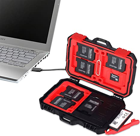 Estuche para Tarjetas de Memoria,Freesoo Lector de tarjetas de memoria y estuche USB 3.0 para