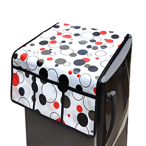 WI International Beautiful Floral Waterproof PVC Fridge Covers