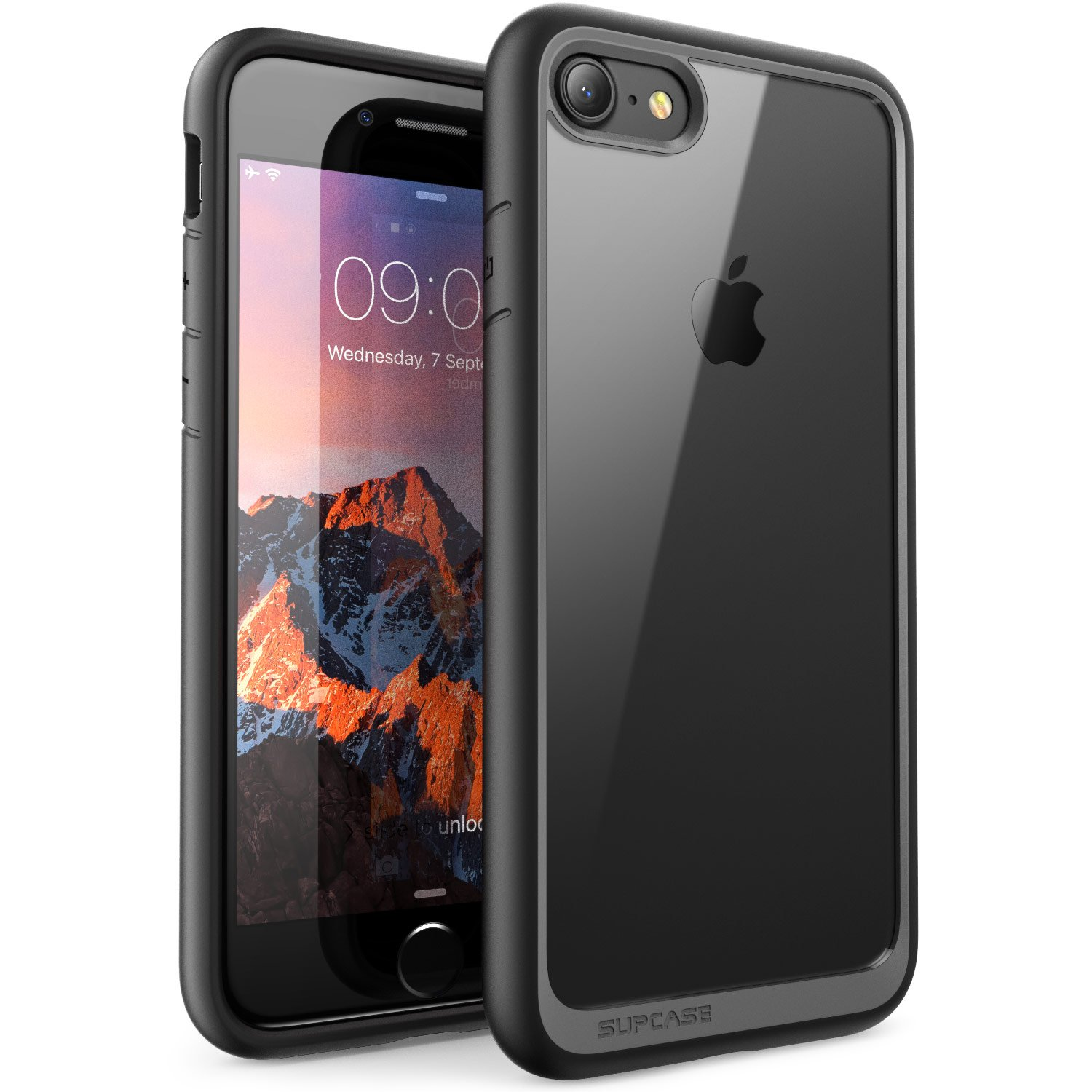 iPhone 7 Case, iPhone 8 Case, SUPCASE Unicorn Beetle Style Premium Hybrid Protective Clear Case for Apple iPhone 7 2016 / iPhone 8 2017 (Black)