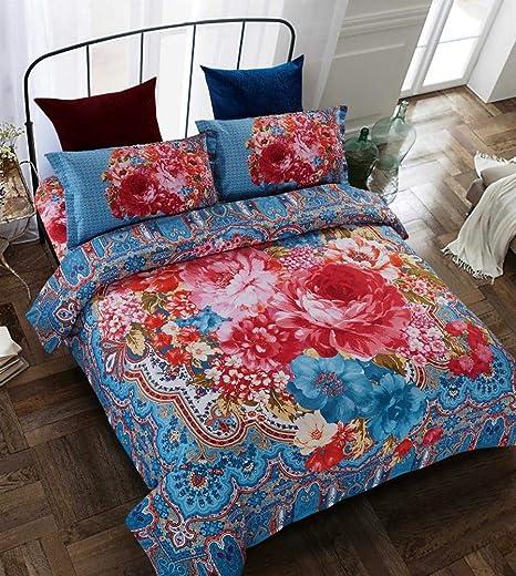 Funda de cama acolchada Colcha de estilo bohemio Ancho Lado